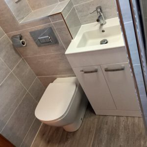 Modern bathroom suites, bathroom ideas, finished project